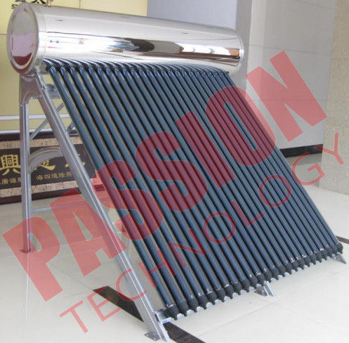 High Pressure Roof Mounted Solar Water Heater With Electric Backup 200L Capacity
